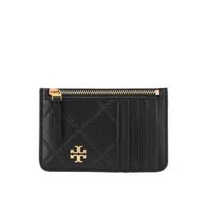 Tory Burch Black Georgia Zip Card Case Wallet